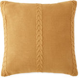 JCP HOME JCPenney HomeTM Tapestry Stripe Cable-Knit Square Decorative Pillow