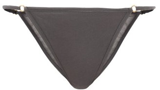 Skin Ortal Cotton-tulle Briefs - Grey