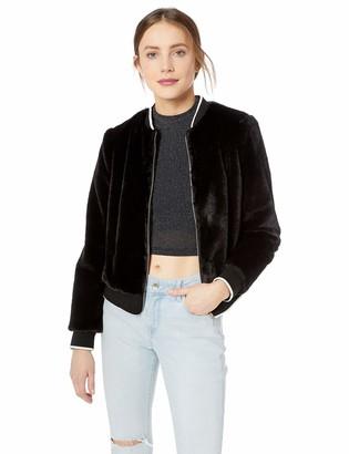 Kensie Women's Luxe Faux Fur Bomber Jacket