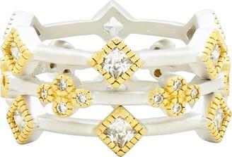Freida Rothman Fleur Bloom Set of 3 Stacking Rings
