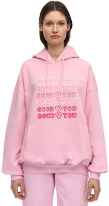 Irene Is Good Good For You Embroidered Cotton Hoodie