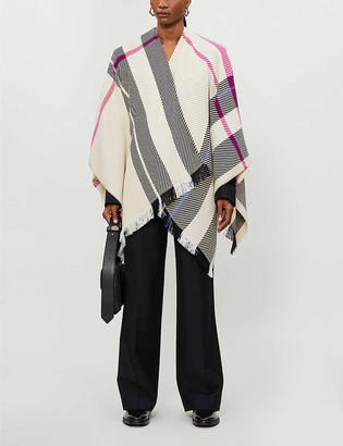 Maje Emmy striped knitted cape
