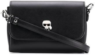 Karl Lagerfeld Paris K/Ikonik metal pin camera bag