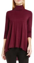 Vince Camuto Women's Mixed Media Turtleneck