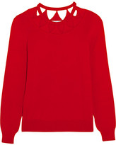 Altuzarra Woodward Cutout Merino Wool Sweater - Red