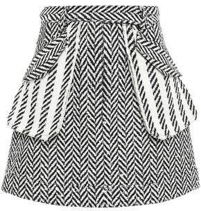 Oscar de la Renta Sequin-embellished Boucle-tweed Mini Skirt