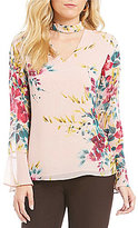 Investments Long Sleeve Key Hole Top