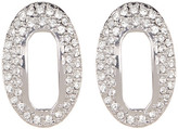 Louise et Cie Pave Crystal Open Oval Stud Earrings