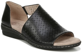 Naturalizer Brylan Leather Perforated Sandal - Wide Width Available