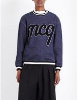 McQ by Alexander McQueen Logo-appliqué jersey sweatshirt