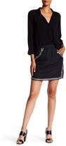 Velvet by Graham & Spencer Embellished Mini Skirt