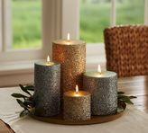 Pottery Barn German Glitter Pillar Candles