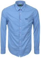 BOSS GREEN Long Sleeve C Buster Check Shirt Blue