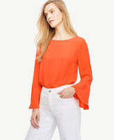 Ann Taylor Petite Fluted Sleeve Blouse