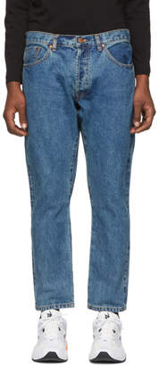 Han Kjobenhavn Blue Selvedge Drop Jeans