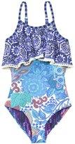 Maaji Girls' Garden Scrapbook Ruffle One Piece Swimsuit (2yrs16yrs) - 8137669