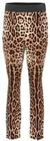 Dolce & Gabbana Leopard-printed silk trousers