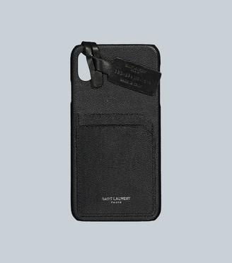 Saint Laurent Leather iPhone XS Max case