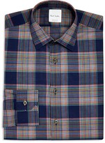 Paul Smith Broken Plaid Slim Fit Dress Shirt
