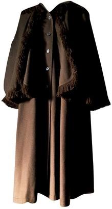 Saint Laurent Brown Wool Coat for Women Vintage