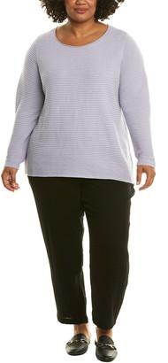 Eileen Fisher Plus Boxy Linen-Blend Top