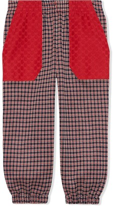 Gucci Kids Children's Houndstooth cotton trousers