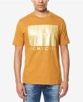 Sean John Men's Big & Tall Gold Block-Print T-Shirt