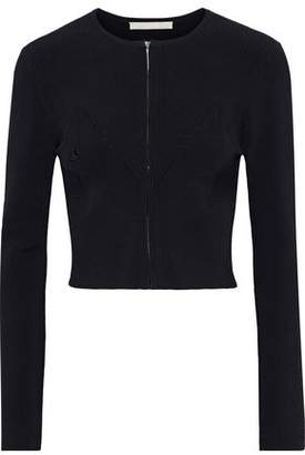 Jason Wu Pointelle-trimmed Ribbed-knit Cardigan