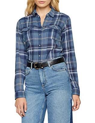 Eddie Bauer Women's Packbare Bluse Langarm - karierte Baumwollbluse mit Stretchanteil, gerundetem Saum und Zwei aufgesetzten Brusttaschen - XS-XXL Blouse,M