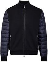 Corneliani Navy Shell And Wool Blend Jacket