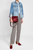 Vanessa Seward Leather Shoulder Bag with Suede