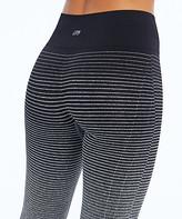 Marika Women's Active Pants HEATHERCHARCOAL - 27'' Heather Charcoal Dip-Dye Seamless High-Waist Leggings - Women