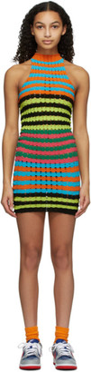 AGR Blue and Orange Striped Punky Dress