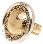 House Of Harlow Engraved Round Statement Ring - Size 7