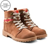Toms Tan Suede Lace-Up Boots