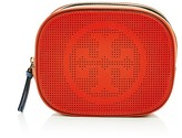 Tory Burch Logo Perforated Leather Cosmetic Case
