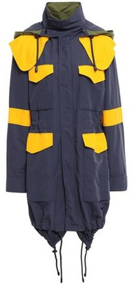 Versace Color-block Shell Hooded Jacket
