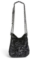KENDALL + KYLIE Amy Sequin Bucket Bag - Black