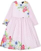 Love made Love Pale Pink Polkadot Floral Print Dress