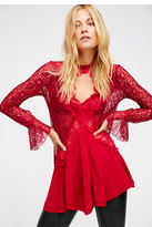 Free People Womens LACE/RAYON PIECED TUNIC