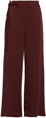 Charli Harriet Knotted Satin-crepe Wide-leg Pants