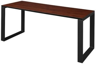"Mireya Training Table Ebern Designs Tabletop Finish: Cherry, Base Finish: Black, Size: 29"" H x 66"" L x 36"" W"