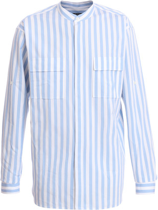 Balmain Oversized Striped Cotton-Poplin Shirt
