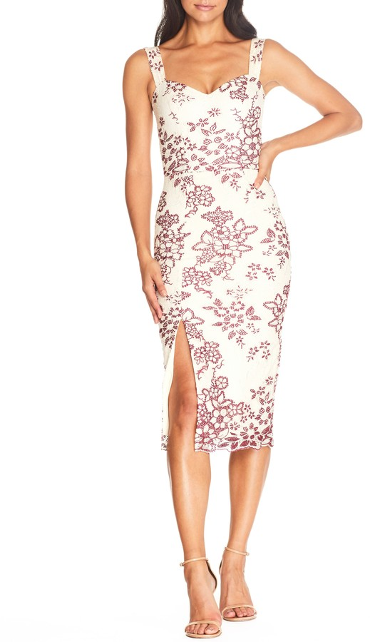 Dress the Population Cadence Embroidered Cocktail Dress