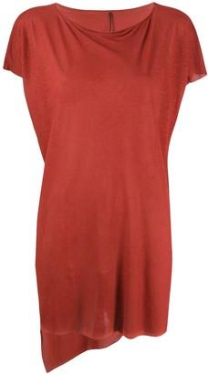 Masnada oversized asymmetric hem T-shirt