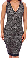 Larry Levine Black Firm Compression Signature Lace Shaping Slip