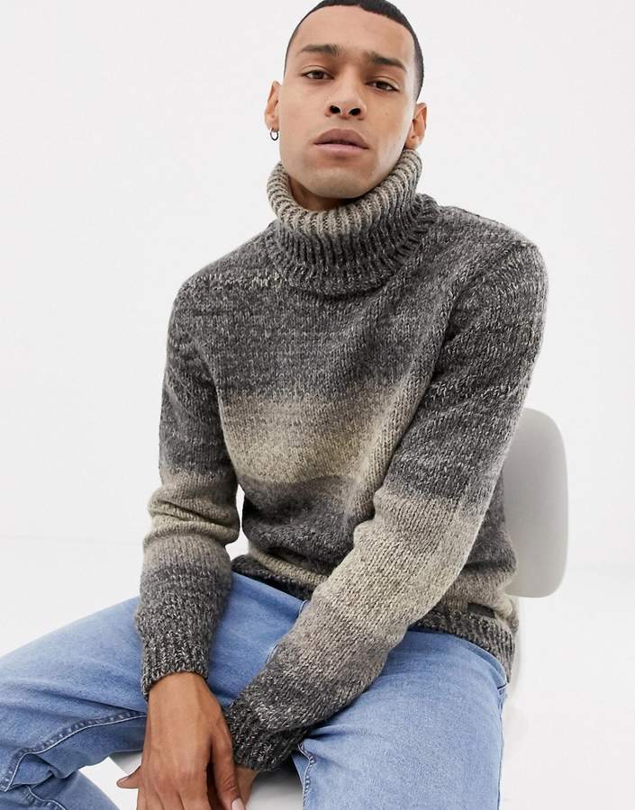 57908bffa1cd85 Mens Ribbed Roll Neck Sweater - ShopStyle UK
