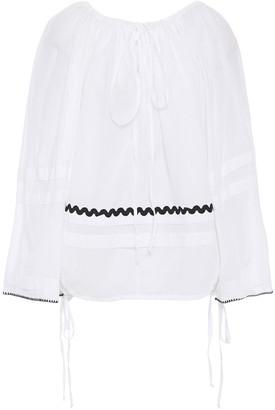 McQ Rickrack-trimmed Cotton-voile Blouse