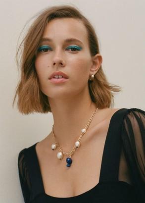 MANGO Semi-precious stones necklace gold - One size - Women