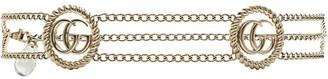 Gucci monogram detail chain belt